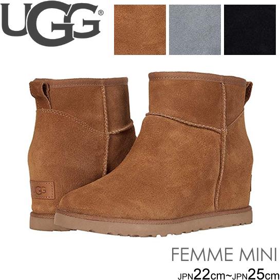 アグ ugg ブーツ 新作 クラシック フェム ミニ シープスキン CLASSIC FEMME MINI 1104609 ウェッジソール 正規品取扱店舗