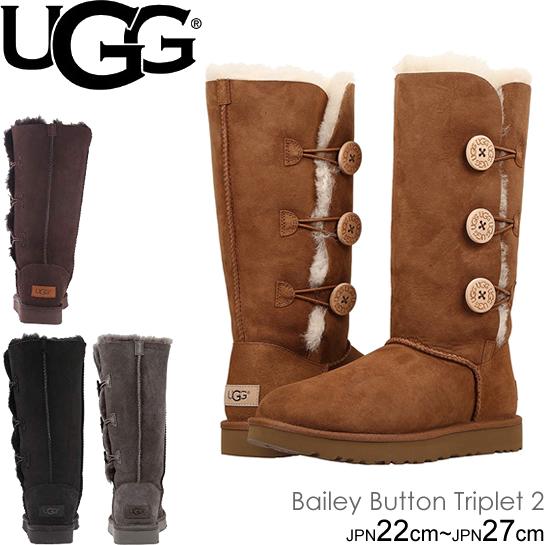 UGG アグ ムートンブーツ 1016227 ベイリーボタントリプレットII ベイリーボタントリプレット2 レディース Women's Classic Collection Bailey Button Triplet II トール ブーツ シープスキン 正規品取扱店舗  so1