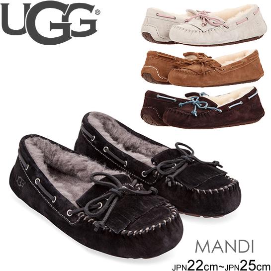 スーパーセール特別価格 UGG Mandie マンディ 1003799  正規品取扱店舗 ムートン シープスキン モカシン
