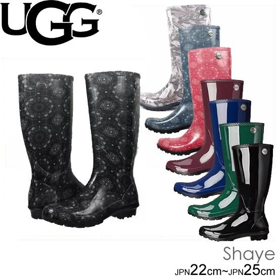 UGG アグ W Shaye W Shaye Bandana アグ シェイ シェイバンダナ トール レインブーツ 長靴 1012350 1013047  正規品取扱店舗  so1