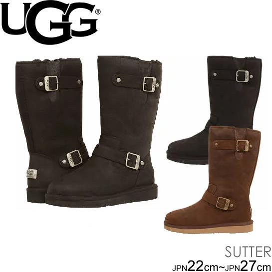 スーパーセール特別価格 UGG W SUTTER サッター ムートンブーツ エンジニア ブーツ 1005374 正規品取扱店舗 シープスキン