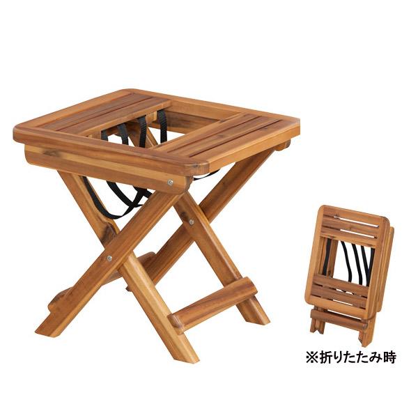 マガジンラック 【VET-102】バレル 天然木 アカシア 折りたたみ 収納付テーブル サイドテーブル ローテーブル