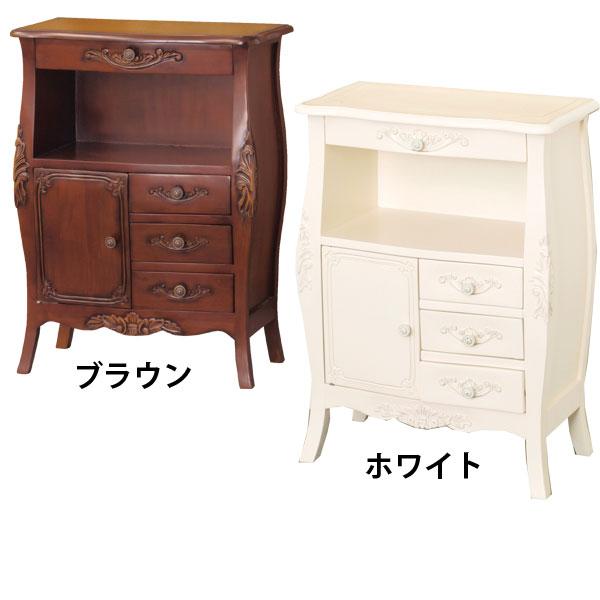 FAX台【コモ ファックス台】(ブラウン/ホワイト 28575/92172)机 テーブル 天然木
