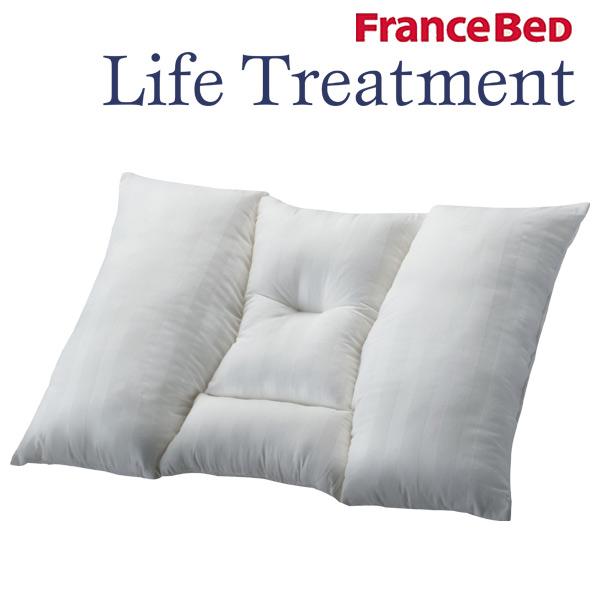 フランスベッド 枕 ピロー 寝具 【らくらくぴったピロー+らくらくぴったピロケース】 リクライニングベッドにおススメ ずれない 首サポート