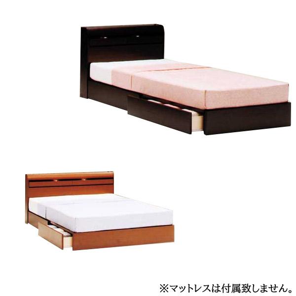 【プレミア】 ベッドフレームのみ SDサイズ LEDライト・コンセント付 【送料無料】