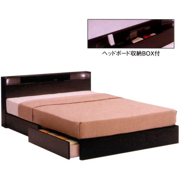 収納BOX 小宮付き ダブルベッド 【レジデンス BOXタイプ Dサイズ】 ベッドフレームのみ ベーシックタイプ