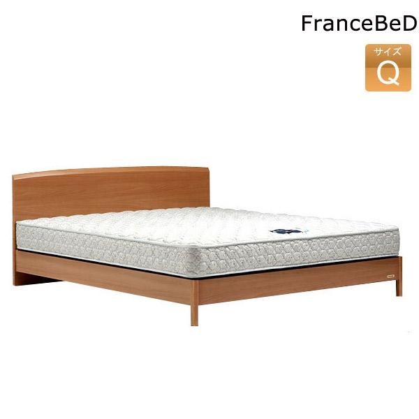 クイーンベッド フランスベッド ベッドフレーム クイーンサイズ FLB13-03F LG マットレス付 Qサイズ France Bed 木製ベッド/新生活応援 【送料無料】