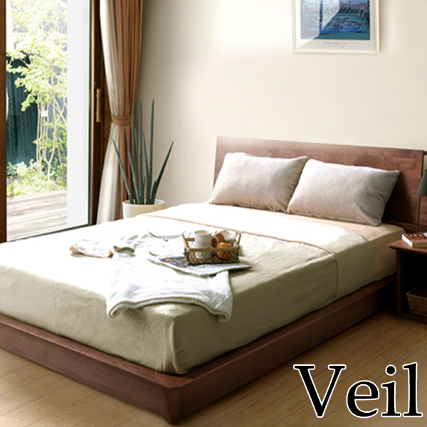 ベッドフレーム【Veil ヴェール】ベッドフレーム2140 Dサイズ ダブル ウォールナット 和室 洋室