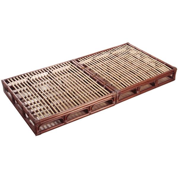 ベッドフレーム 【W-009D スノコベッド】 フレームのみ シングル すのこ 籐 ラタン 軽くて移動がしやすいラタンベッド