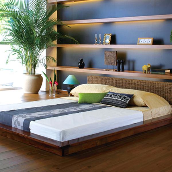【bed】 ベッドフレーム Qサイズ 【RB-1980-Q】 クイーンサイズ アジアンテイスト フレームのみ