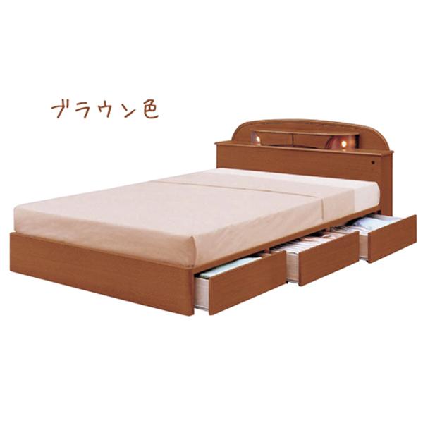 シングルベッド 小宮付 アポロ 【IPB-MCI-841】【Sサイズ】 bed 収納付き 引出し付き 【送料無料】
