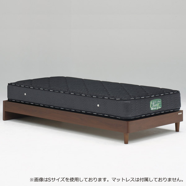 ベッド ベッドフレームのみ ワイドダブルサイズ 【ウォルテ ヘッドレスタイプ 引出しなし ワイドダブル】WDサイズ