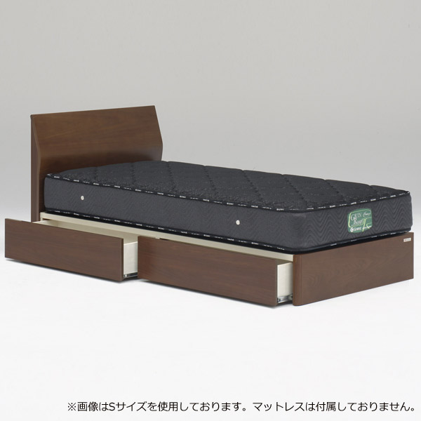 ベッド ベッドフレームのみ シングルサイズ 【ウォルテ フラットタイプ 引出し付き シングル】Sサイズ