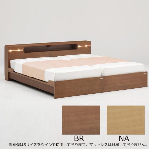ベッド ベッドフレームのみ セミダブルサイズ 【ビューテ 引出しなし (左) or (右) セミダブル】SDサイズ