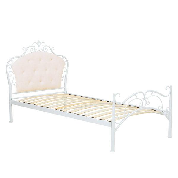 デザインベッド【KH-3090S-WH】フレームのみ シングルベッド シングルサイズ Sサイズ 姫ベッド アンティーク 新生活