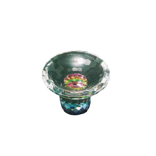 仏具 高杯 クリスタル高月 水無月 レインボー(半対) 2.5寸 小型//モダン仏具 【送料無料】