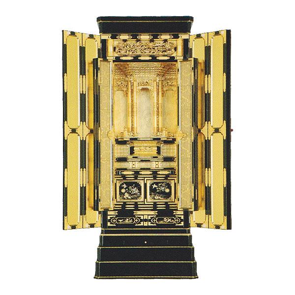 京型胴長 【白銀2】 通しランマ 表面取 組子仕上 西 箔仕上 金仏壇