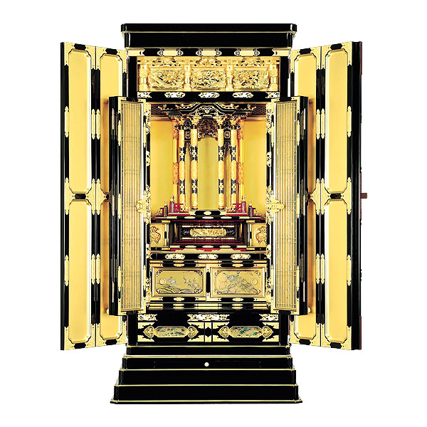 京型別台 【若葉】 極上 堂造り サシマス 本山 総粉 金仏壇