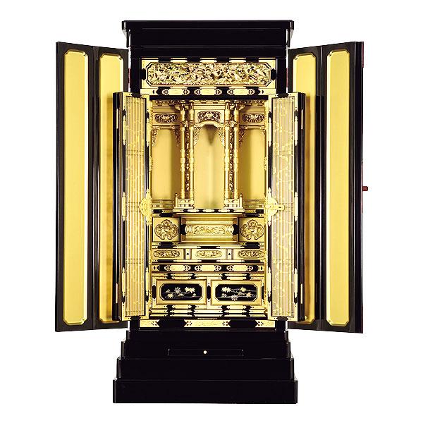 ポイントアップ&限定クーポン配布中 6/11 ~1:59迄!京型別台 【あざみ】 金色塗料仕上 西 金仏壇