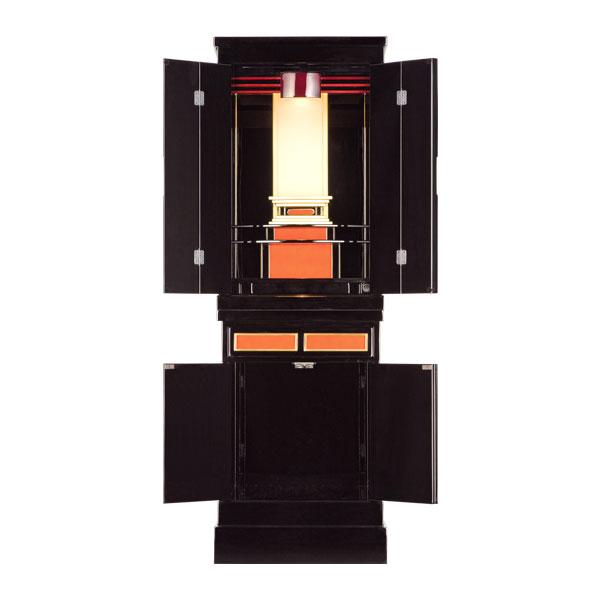 塗りモダン台付 【夢庵】 四枚戸 モダン仏壇 現代のライフスタイルに合わせた新しい仏壇