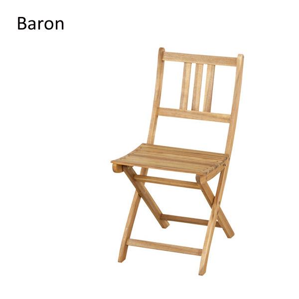 【バロン】 アカシアシリーズ 109-XN 折りたたみチェア 2脚 コンパクト 美しい木目のアカシア材を使用【送料無料】