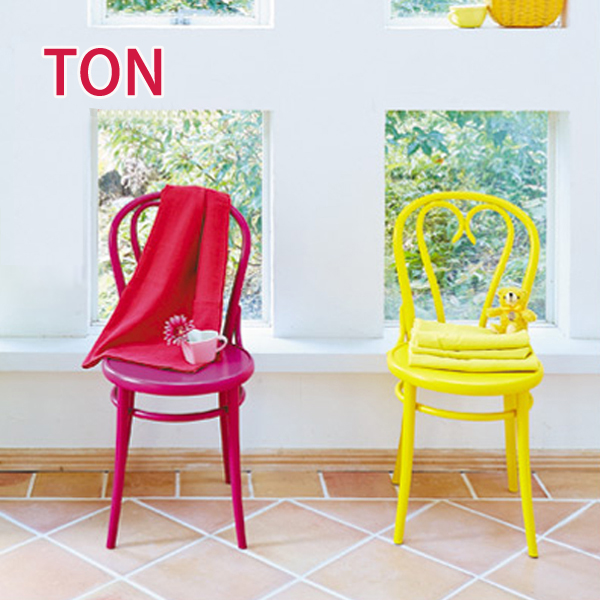 【お得なクーポン配布中★】【TON トン】 BCZ-8052-BL/G/MG/R/TQ/W/Y チェア カフェ バー ダイニング 椅子 カラフル ヨーロッパ アンティーク調 チェコ製 【送料無料】