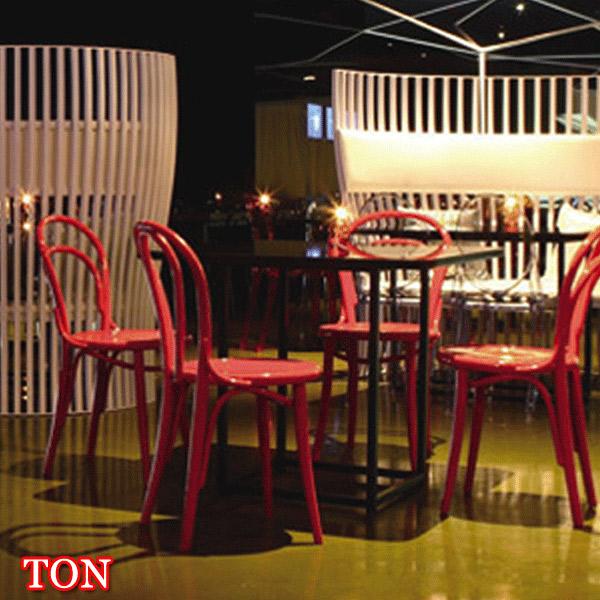 【TON トン】 BCZ-8054-BL/R/Y チェア カフェ バー ダイニング 椅子 カラフル ヨーロッパ アンティーク調 チェコ製 【送料無料】