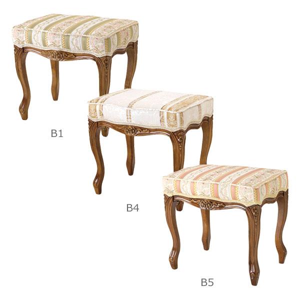 【お得なクーポン配布中★】【Fiore フィオレ】 SAC-1470-B1/B4/B5 スツール 椅子 ドレッサー ヨーロッパ アンティーク調 【送料無料】