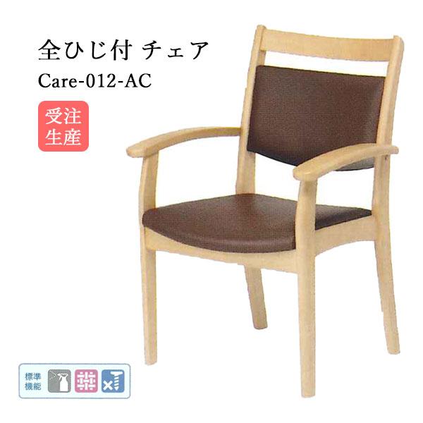 介護用チェア 介護イス 介護施設用椅子【Care 肘付チェア(AC-002-IN)/2脚セット】肘掛け付き ウェービング シンプル ベーシック 無地