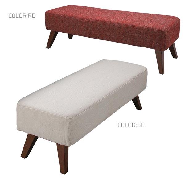 ベンチ 【レウス Reus ベンチ LC-62B】椅子 イス 木製 丈夫 シンプル 115サイズ 北欧風 カラー2色 BE RD【送料無料】