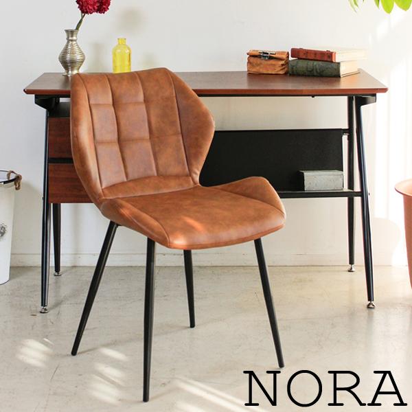 【NOLA ノラ チェア BR】椅子 カフェチェアー チェアー ダイニングチェアー おしゃれ 合皮【代引不可】