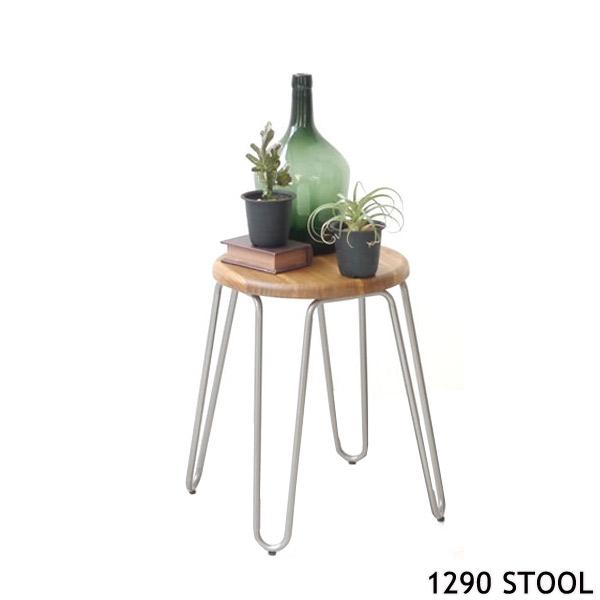【1290 スツール】木製/シンプル/丸椅子/無垢材/ナチュラル/スタイリッシュ/ハンドメイド/ウッドチェア/キッチンスツール/椅子/イス/カウンタースツール