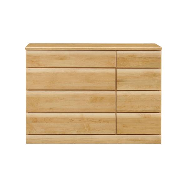 チェスト 【フォーレ 120ローチェスト】幅119.5cm 木製 洋服収納 フルオープンレール付 天板アルダー無垢