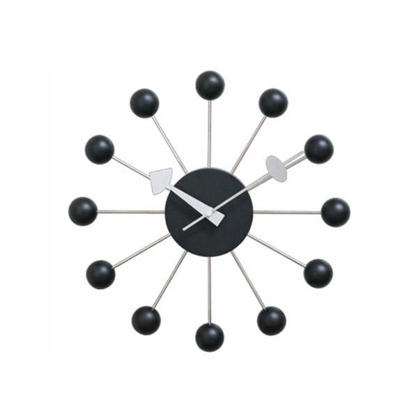 壁掛け時計 【ボールクロック ブラック GN397BK】 George Nelson ジョージネルソン 【送料無料】