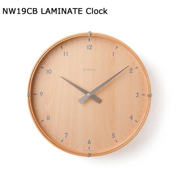 【NW19CB ビーチ HOUSE 30cm】 インハウス ラミネートウォールクロック IN 壁掛け時計