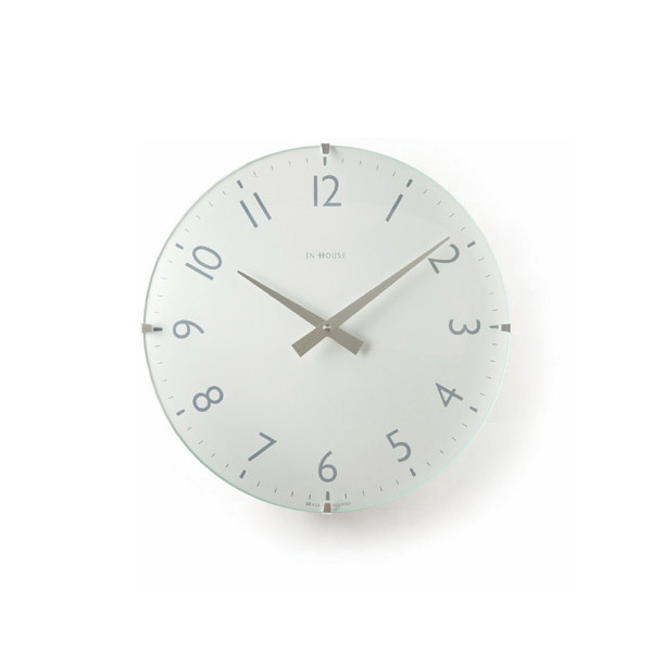 壁掛け時計 【NW31WA ドームクロック ホワイト 29cm】 IN HOUSE インハウス 【送料無料】