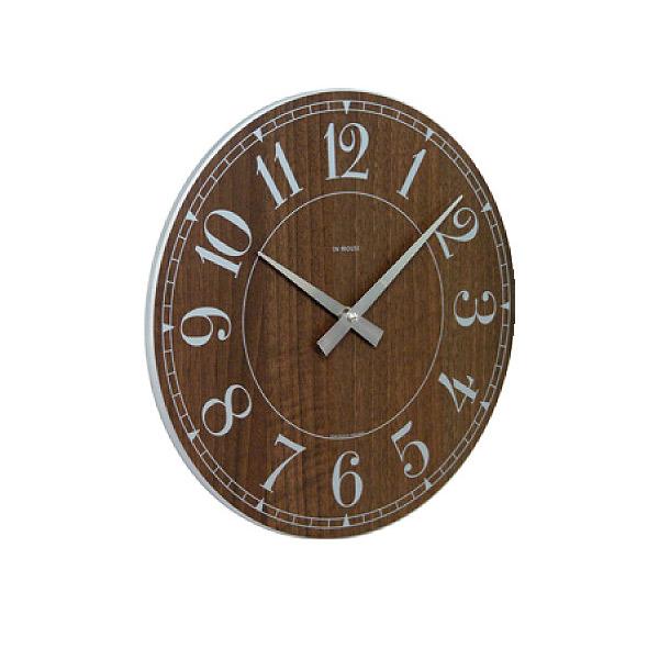 壁掛け時計 【NW8WK STATION ウォールクロック ウォルナット 29cm】 IN HOUSE インハウス 【送料無料】