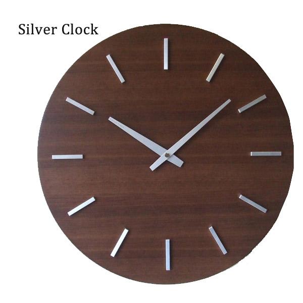 クロック 壁掛け 時計 【ウォールナットの時計 V-0011 ステップ ブラウン】 【送料無料】