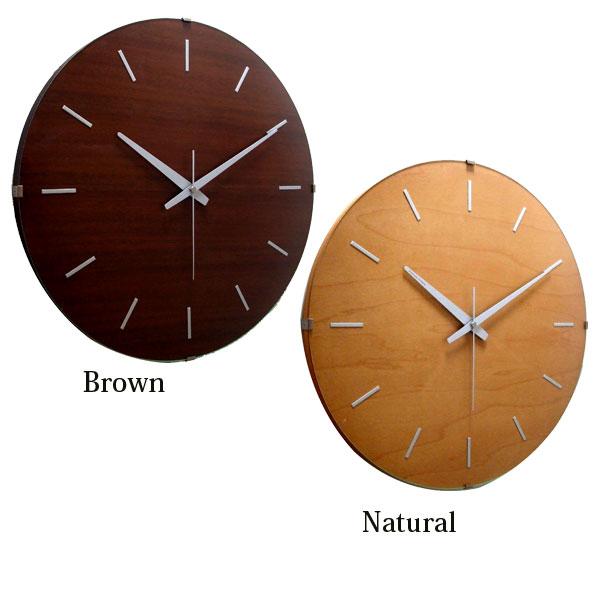 クロック 壁掛け 時計 【ドームバークロック 電波 V-031 ナチュラル/ブラウン】 【送料無料】