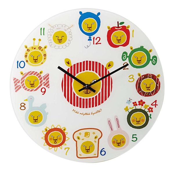 壁掛け時計 【Leona レオナ CL-9712】 掛時計 ウォールクロック 40cm幅 おしゃれ かわいい インテリア キッズ リビング 子供部屋 電池付き