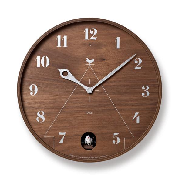 掛け時計 【PACE パーチェ】 カッコー時計 LC11-09NT ナチュラル/LC11-09BW ブラウン シンプル オシャレ ライトセンサー付き カワイイ クロック 壁掛け 時計 ウォールナット