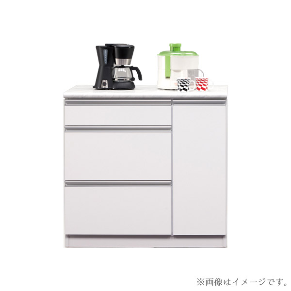 食器棚 【カラー90カウンター】 幅89.3 収納棚 キッチン収納 台所棚 【送料無料】