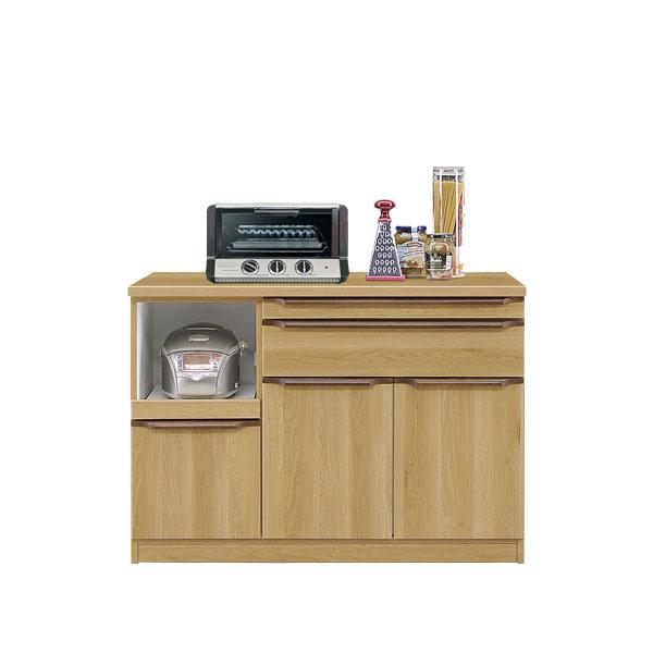 【お得なクーポン配布中★】食器棚 【クイーン 120カウンター】幅119.5cm 木製 【送料無料】
