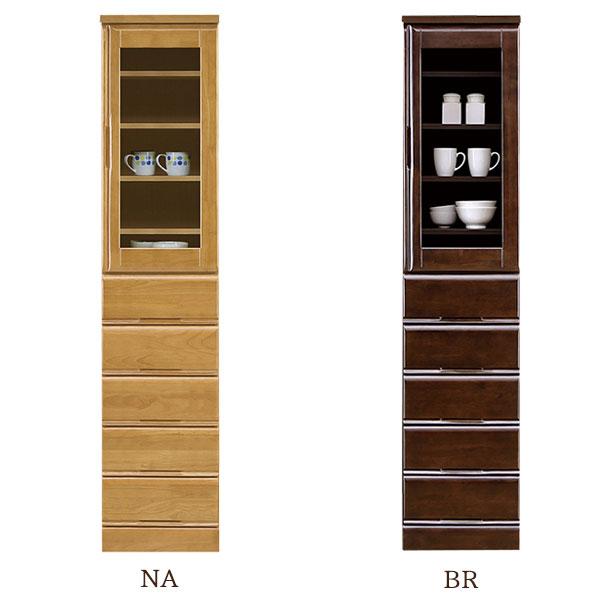【お得なクーポン配布中★】食器棚 【サンダー 40HG】幅40cm 選べる2色 木製 【送料無料】