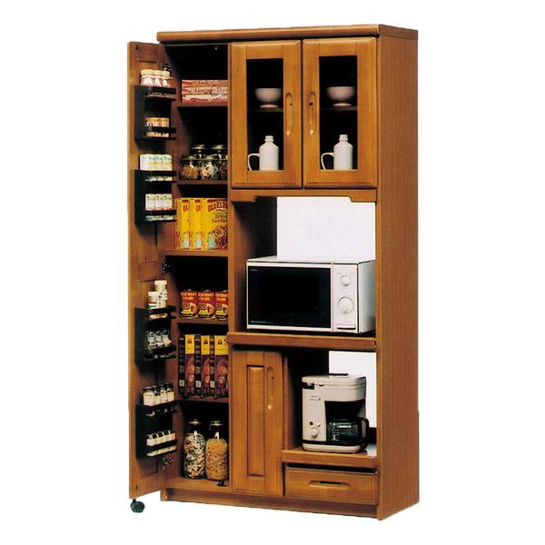 キッチンボード キッチン収納 【オリビア 90収納レンジ】 食器棚 収納棚 アンティーク おしゃれ