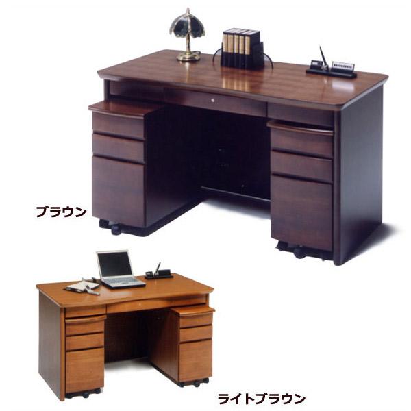 デスク+ワゴン 【ニース 】机 書斎 ライトブラウン/ブラウン パソコンデスク オフィスデスク