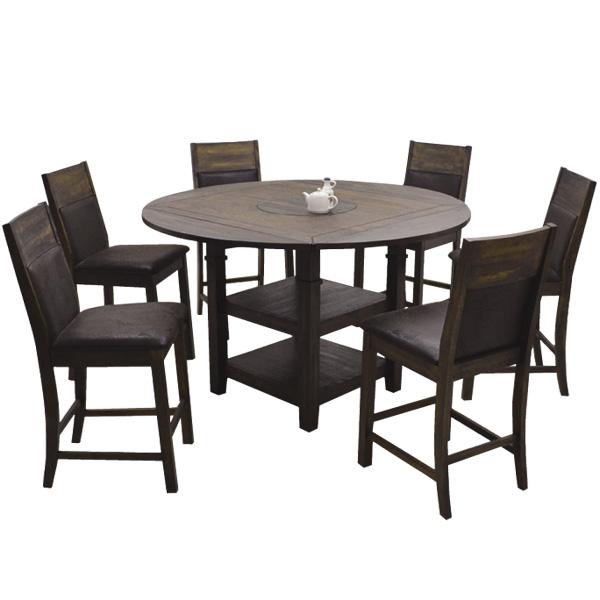 マルチテーブル7点セット(ハイタイプ) 【 Amazon アマゾン 】マルチテーブル ハイチェアー(6脚) ダイニングテーブルセット