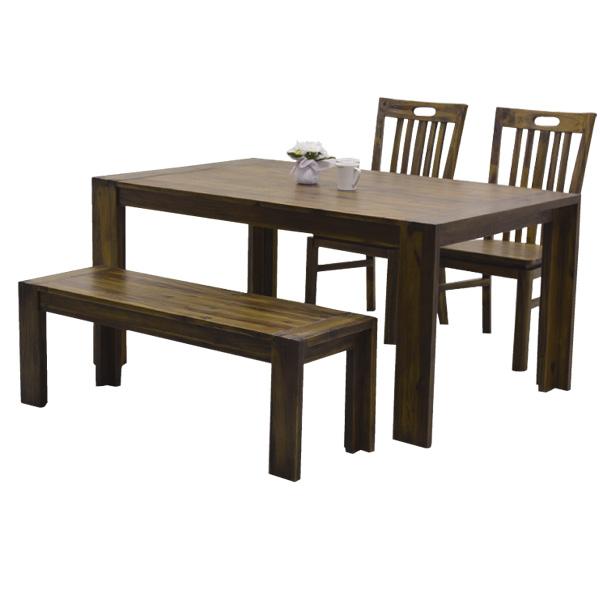ダイニング4点セット 150-4点セット 【ハドソン】 ダイニングセット テーブル ベンチ チェアー×2 ダイニングテーブルセット