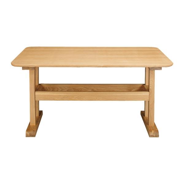 【お得なクーポン配布中★】テーブル 【エルム Elm ダイニングテーブル TOH-456】食卓机 シンプル構造 丈夫 天然木 130サイズ 北欧風 【送料無料】