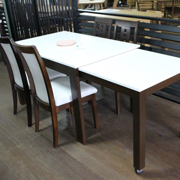 ダイニングテーブルセット ダイニングセット 5点セット 【SG600DB+フォーク×2+コロン3×2】 エクステンションテーブル/伸長式/食卓テーブルセット/table/シンプル/おしゃれ